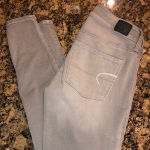 American Eagle jeggings size 2 gray